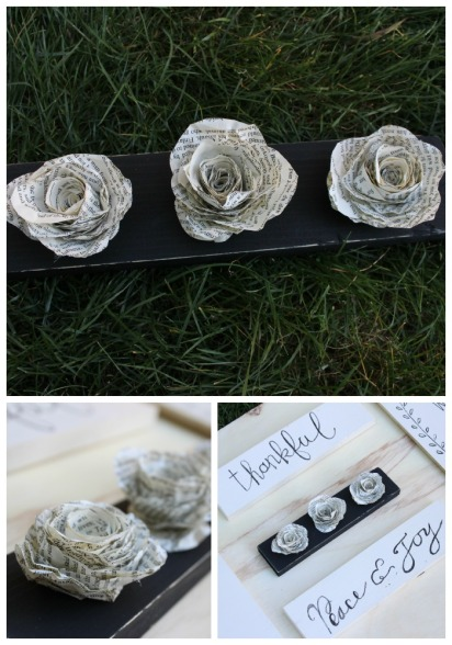 Book Page Flower Wall Decor